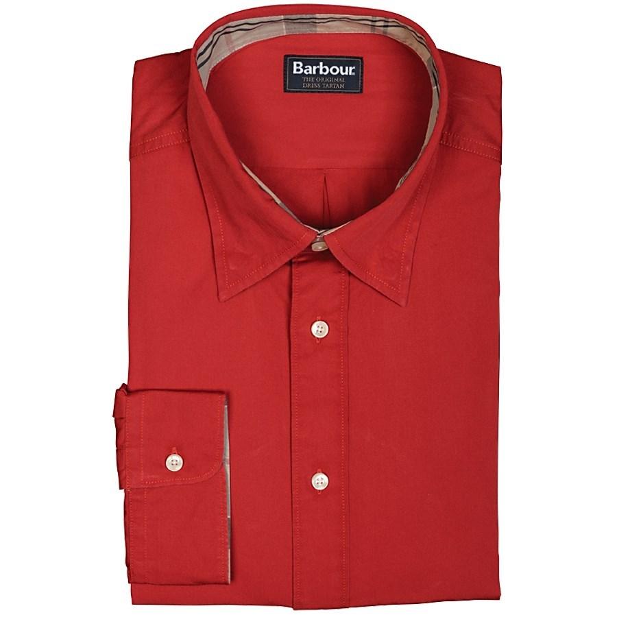 Barbour fedderdale shirt hidden button down collar long for Hidden button down collar shirts