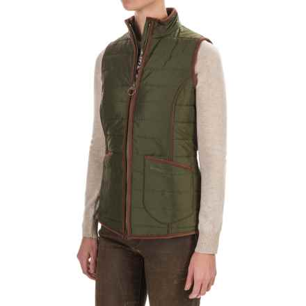 Barbour Fell Polarquilt Vest (For Women) in Olive - Closeouts