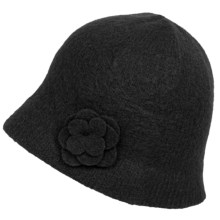 Barbour Felted Lambswool Cloche Hat (For Women) in Black - Closeouts