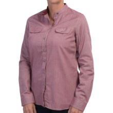 Barbour Flixton Shirt - Long Sleeve(For Women) in Juniper - Closeouts
