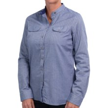 Barbour Flixton Shirt - Long Sleeve(For Women) in Navy - Closeouts