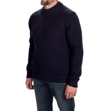 Barbour Flounder Sweater - Wool, Crew Neck (For Men) in Navy - Closeouts