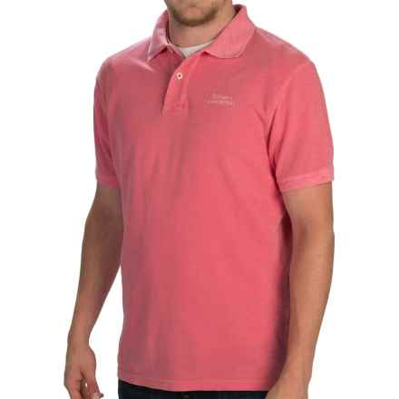 Barbour Flow Laundered Polo Shirt - Short Sleeve (For Men) in Candy - Closeouts