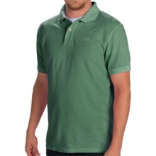 Barbour Flow Laundered Polo Shirt - Short Sleeve (For Men) in Neveda Green - Closeouts