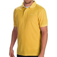 Barbour Flow Laundered Polo Shirt - Short Sleeve (For Men) in Sunbleached Yellow - Closeouts