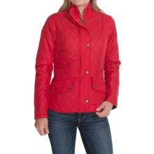 Barbour Flyweight Cavalry Diamond Quilted Jacket (For Women) in Chilli Red/Navy - Closeouts