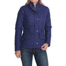 Barbour Flyweight Cavalry Diamond Quilted Jacket (For Women) in Indigo/Stone - Closeouts