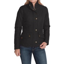 Barbour Flyweight Cavalry Diamond Quilted Jacket (For Women) in Navy/Navy - Closeouts