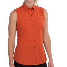 Barbour Foreland Cotton Shirt - Two Pocket, Sleeveless (For Women) in Amber - Closeouts