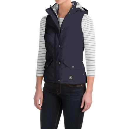 Barbour Forland Chevron Vest - Quilted (For Women) in Navy - Closeouts