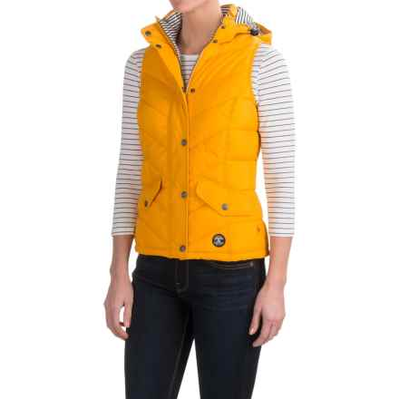 Barbour Forland Chevron Vest - Quilted (For Women) in Yellow - Closeouts