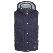 Barbour Forland Diamond-Quilted Vest (For Girls) in Navy - Closeouts
