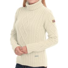Barbour Fortitude Lambswool Sweater (For Women) in Vanilla - Closeouts