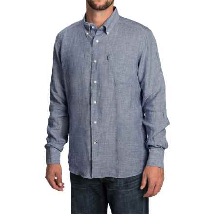 Barbour Frank Shirt - Tailored Fit, Linen, Long Sleeve (For Men) in Navy - Closeouts