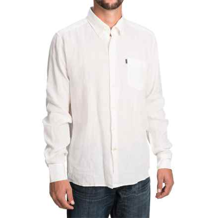 Barbour Frank Shirt - Tailored Fit, Linen, Long Sleeve (For Men) in White - Closeouts