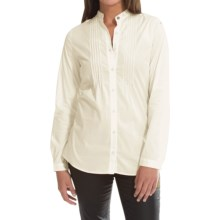 Barbour Gare Shirt - Long Sleeve (For Women) in Cream - Closeouts
