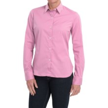 Barbour Giselle Stretch Cotton Shirt - Long Sleeve (For Women) in Pale Pink/Floral - Closeouts
