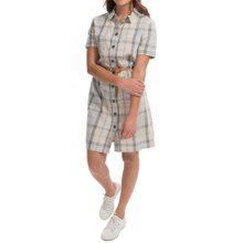 Barbour Glaisnock Linen Shirtdress - Short Sleeve (For Women) in Summer Dress - Closeouts
