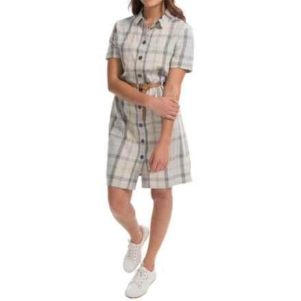 Barbour Glaisnock Linen Shirtdress - Short Sleeve (For Women) in Summer Dress - Closeouts