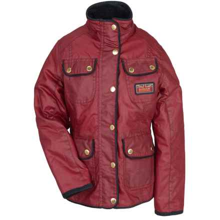 Barbour Glencoe Jacket - Wax Cotton, Insulated (For Girls) in Chilli Red - Closeouts