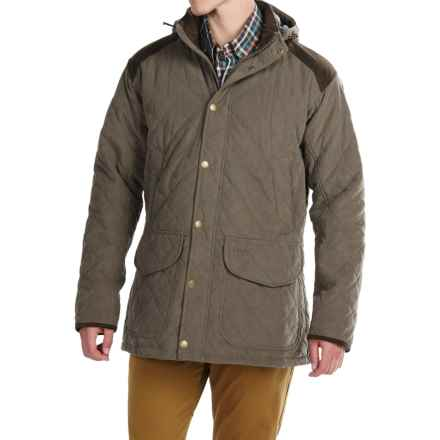 Barbour Grange Quilted Jacket - Waterproof, Insulated (For Men) in Dark Olive - Closeouts