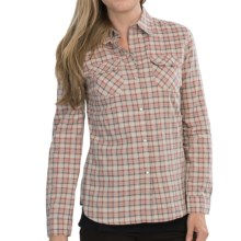 Barbour Grayling Flannel Shirt - Long Sleeve (For Women) in Pink Check - Closeouts