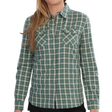 Barbour Grayling Flannel Shirt - Long Sleeve (For Women) in Thyme Check - Closeouts
