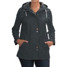Barbour Hackamore Hooded Parka (For Women) in Navy - Closeouts