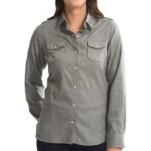 Barbour Hallrule Shirt - Long Sleeve (For Women) in Green - Closeouts