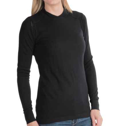 Barbour Halt Sweater - Merino Wool (For Women) in Black - Closeouts