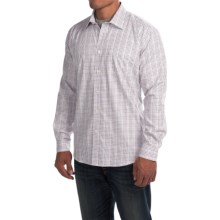 Barbour Haltswhistle Cotton Shirt - Regular Fit, Long Sleeve (For Men) in Ruby - Closeouts