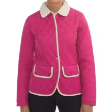 Barbour Hambledon Quilted Jacket (For Women) in Bright Pink/Natural - Closeouts