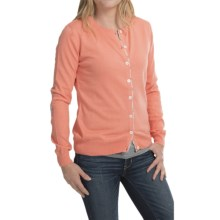 Barbour Hamerley Cardigan Sweater - Cotton-Cashmere (For Women) in Camelia - Closeouts