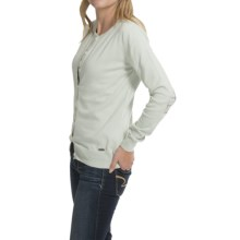 Barbour Hamerley Cardigan Sweater - Cotton-Cashmere (For Women) in Green Lily - Closeouts