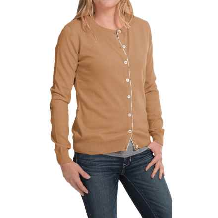 Barbour Hamerley Cardigan Sweater - Cotton-Cashmere (For Women) in Hessian - Closeouts