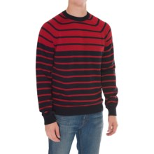 Barbour Haysham Crew Neck Sweater (For Men) in Rich Red - Closeouts