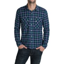 Barbour Heartwood Country Check Shirt - Long Sleeve (For Men) in Purple - Closeouts