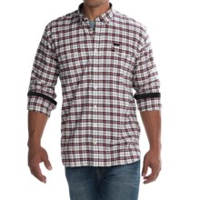 Barbour Hike Sport Shirt - Long Sleeve (For Men) in Merlot - Closeouts