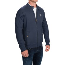 Barbour Hilts Sweatshirt - Full Zip (For Men) in Navy - Closeouts