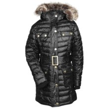 Barbour Hownsgill Parka - Faux-Fur Trim (For Girls) in Black/Modern - Closeouts