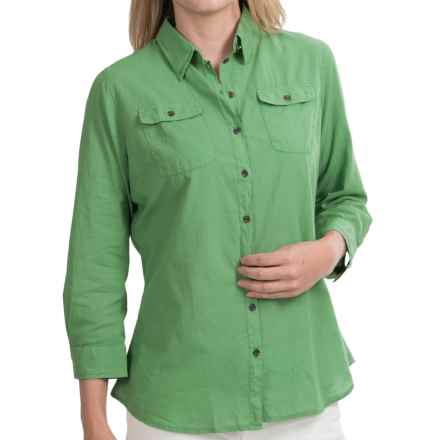 Barbour Hunstanton Shirt - Long Sleeve (For Women) in Linden Green - Closeouts