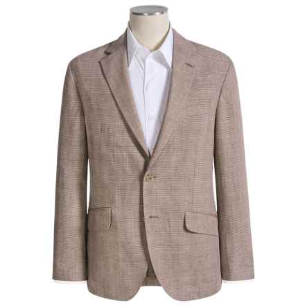 Barbour Hymers Tailored Jacket - Cotton-Linen (For Men) in Brown Herringbone - Closeouts