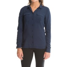 Barbour Infantry Slim Fit Shirt - Long Sleeve (For Women) in Navy - Closeouts