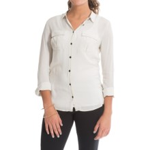 Barbour Infantry Slim Fit Shirt - Long Sleeve (For Women) in Pearl - Closeouts