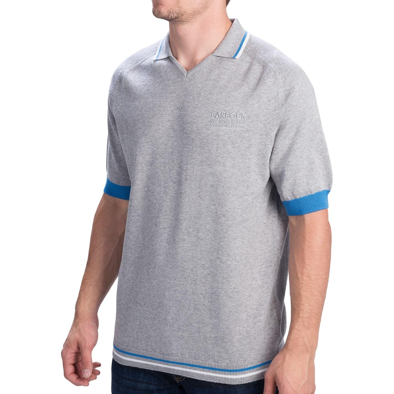 barbour international alberhill polo shirt v neck short sleeve for men save 65. Black Bedroom Furniture Sets. Home Design Ideas
