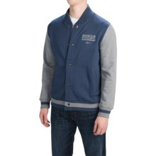 Barbour International Baytown Varsity Jacket (For Men) in Indigo Marl - Closeouts
