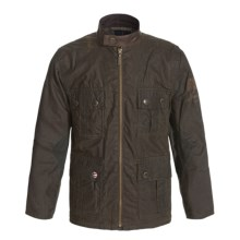 Barbour International Chico Jacket - Waxed Cotton (For Boys) in Olive - Closeouts