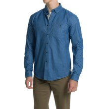 Barbour International Clay Chambray Shirt - Button Front, Long Sleeve (For Men) in Navy - Closeouts