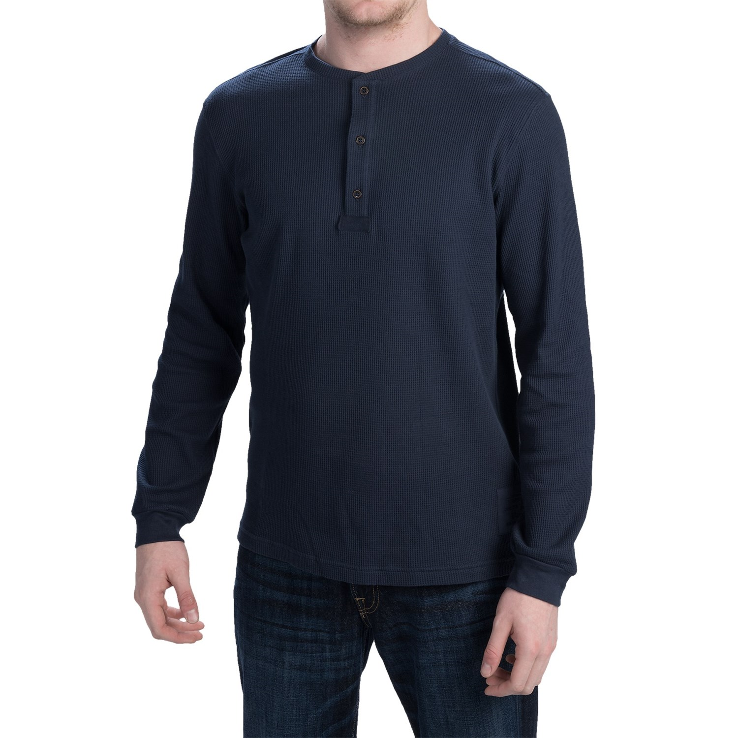 Mens Long Sleeve Henley Shirt