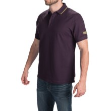 Barbour International Cotton Polo Shirt - Short Sleeve (For Men) in Aubergine - Closeouts
